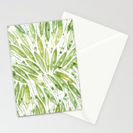 Olive tree leaves pattern Stationery Cards