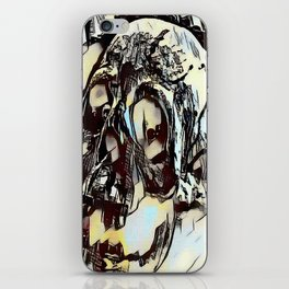 Metal Paper Skull iPhone Skin