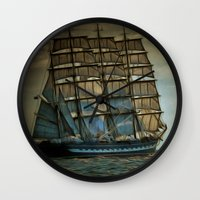 ships Wall Clocks featuring Ships by InDepth Designs