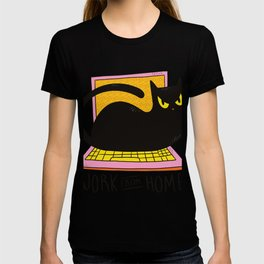 Work from Home with cat T-shirt