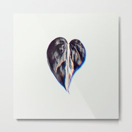 Heart Shaped Plant's Leaf 3D Chromatic  Metal Print