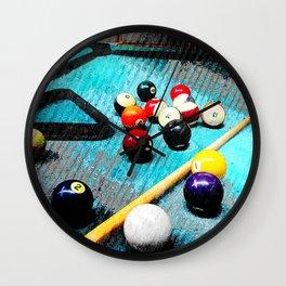 Billiard art and pool artwork 5 Wall Clock