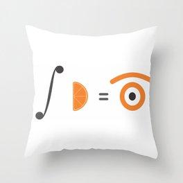 orange integral Throw Pillow