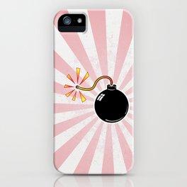 Pink Love Blast iPhone Case