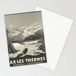 MIDI Ax les Thermes oude poster Stationery Cards