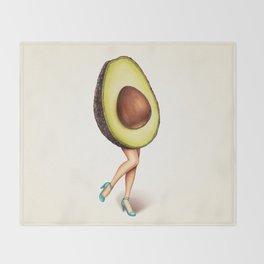 Avocado Girl Throw Blanket