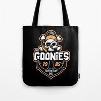 goonies Tote Bags featuring The Goonies by Buby87