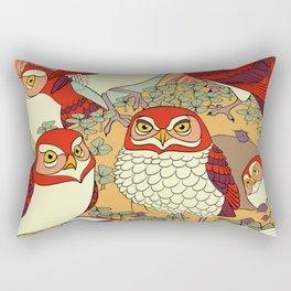 Burrowing Owl Family Rectangular Pillow