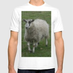 Wooly Sheep White MEDIUM Mens Fitted Tee