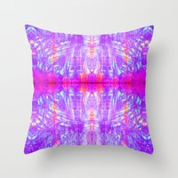 tye dye Throw Pillows featuring DigiChrome Dye  by WHITNEYMANNEY