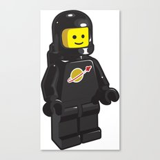 Vintage Lego Black Spaceman Minifig Canvas Print