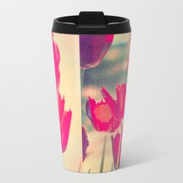 Red Tulips Diptych Travel Mug