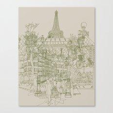 Paris! Musty Canvas Print
