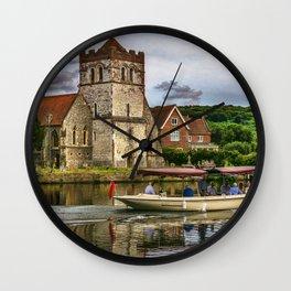 On The Thames At Bisham Wall Clock