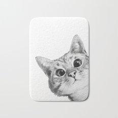 sneaky cat Bath Mat