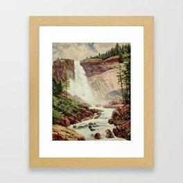Bagg, Henry H. (1852-1928) - On Sunset Highways 1921 - Nevada Fall, Yosemite Framed Art Print