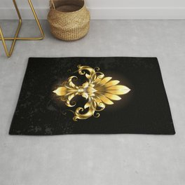 Golden Fleur de Lis Rug