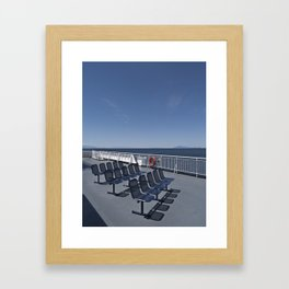 Island Ferry Framed Art Print