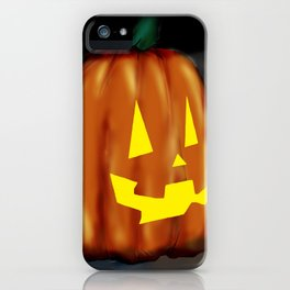 Smiling Pumpkin iPhone Case