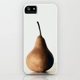 Pear on White iPhone Case