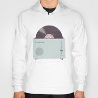 high Hoodies featuring High Fidelity Toaster by Florent Bodart / Speakerine
