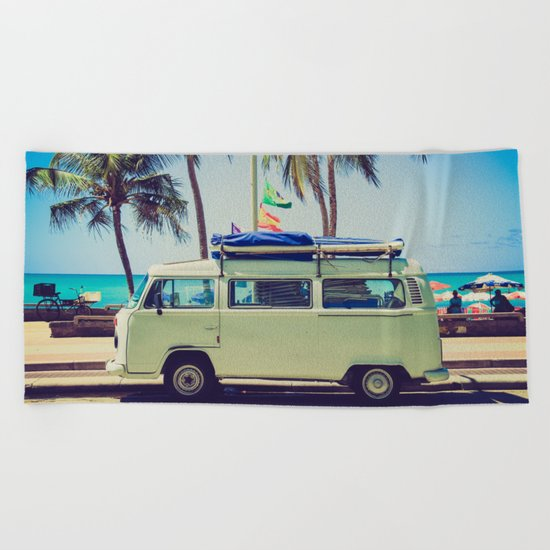 Camper beach 5 Beach Towel