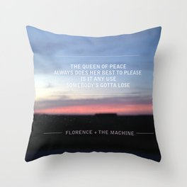 Queen of Peace lyric Throw Pillow