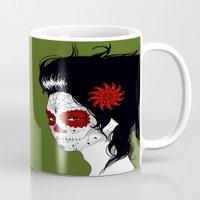 calavera Mugs featuring Calavera by Griboedova Nat