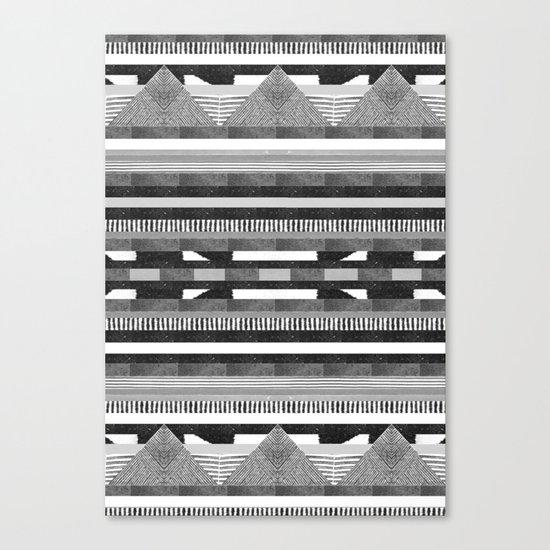 DG Aztec No.2 Monotone Canvas Print