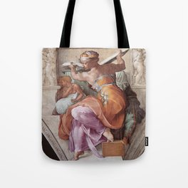 The Libyan Sybil Sistine Chapel Ceiling by Michelangelo Tote Bag