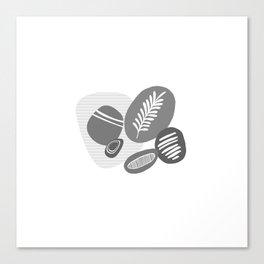 Abstrct pebbles Canvas Print