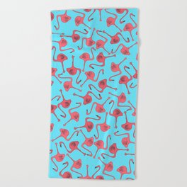 Flamingo Pattern Beach Towel