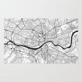 Newcastle upon Tyne Map Gray Rug