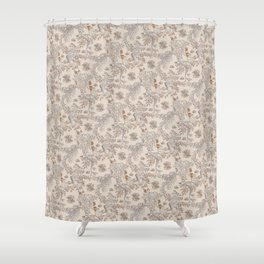 Party Critters in Cream ( leafy sea dragon in cream and coral ) Shower Curtain