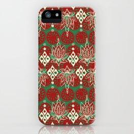 lotus diamond christmas iPhone Case