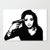 lindsay lohan Canvas Prints featuring Lindsay Lohan. by 161926