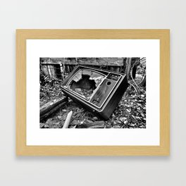 Kill Your Television Framed Art Print