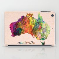australia iPad Cases featuring Australia  by mark ashkenazi