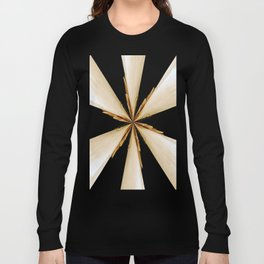 Black, White and Gold Star Long Sleeve T-shirt