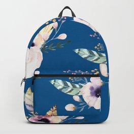 Blue & Flowers Backpack