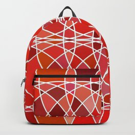 Abstract round shapes in red color Backpack