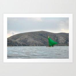 Titicaca sail 2 Art Print