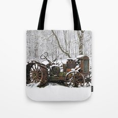 Steel and Snow Tote Bag