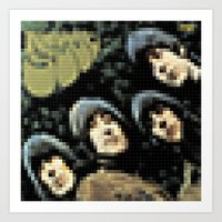 Rubber Soul - Legobricks Art Print