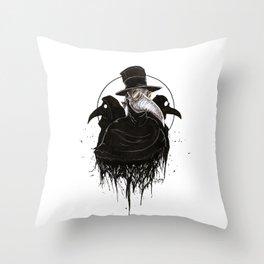 Plague Doctors Throw Pillow