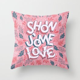 Show Some Love - Coral Throw Pillow