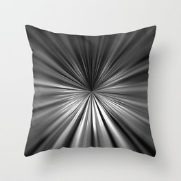 Black and white starburst Throw Pillow