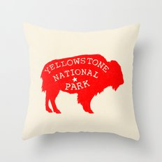 Yellowstone National Park  Throw Pillow