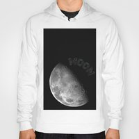 the moon Hoodies featuring MOON by wowpeer