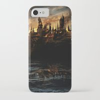 dumbledore iPhone & iPod Cases featuring Harry Potter - Hogwart's Burning by Juniper Vinetree